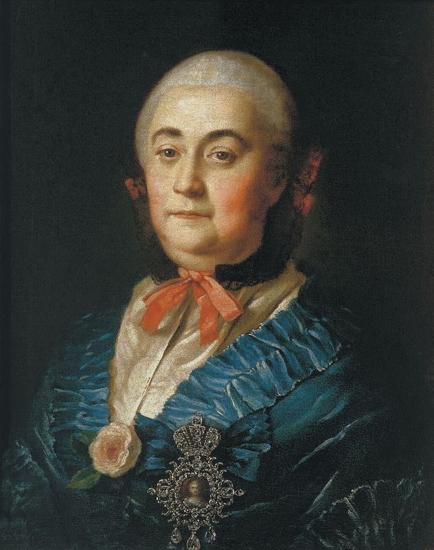 Portrait of the Lady in Waiting A.M.Izmaylova - Aleksey Antropov
