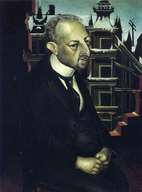 Portrait of the Lawyer Dr. Fritz Glaser - Otto Dix