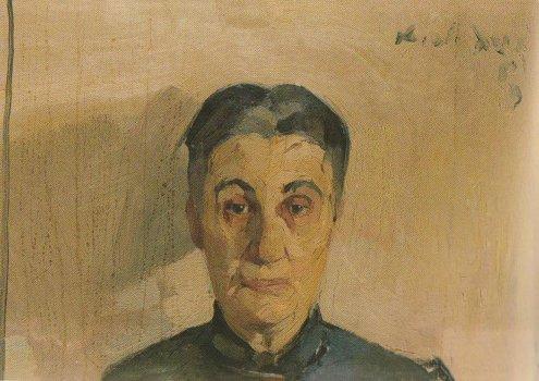 Portrait of the painter's mother - Nikolaos Lytras