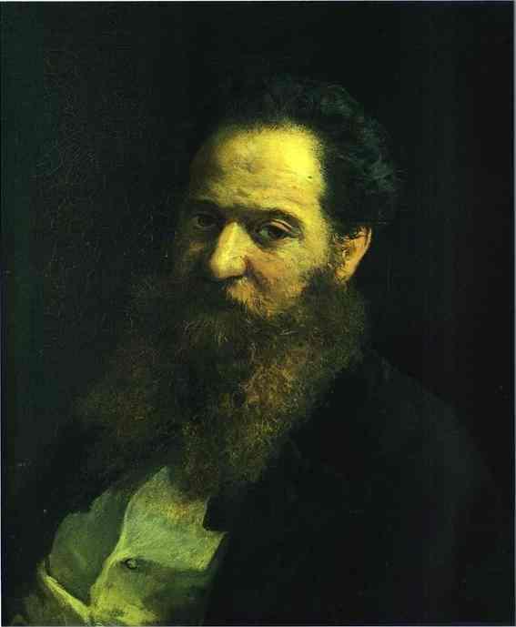 Portrait of the Physiologist Moriz Schiff - Nikolai Ge