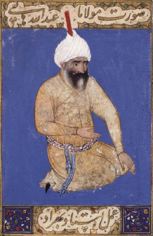 Portrait of the poet Hatifi - Kamal ud-Din Behzad