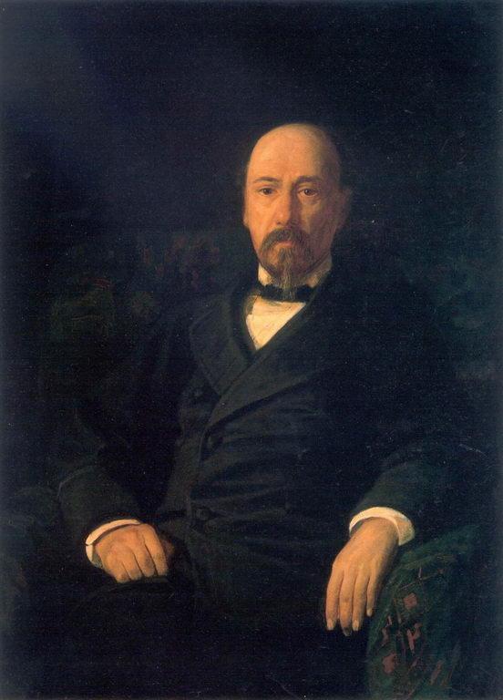 Portrait of the Poet Nikolay Nekrasov - Nikolai Ge