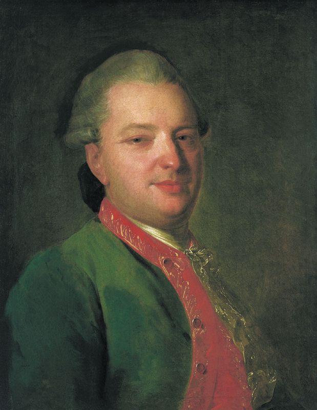 Portrait of the Poet Vasily Maykov - Fyodor Rokotov