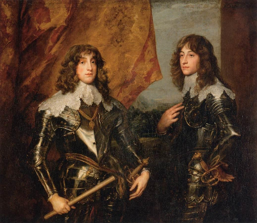 Portrait of the Princes Palatine Charles Louis I and his Brother Robert - Anthony van Dyck