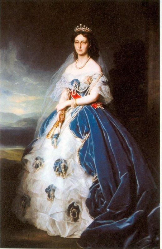 Portrait of the Queen Olga of Wurttemberg - Franz Xaver Winterhalter