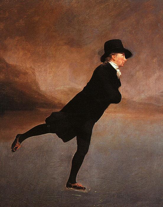 The Skating Minister (The Reverend Robert Walker Skating on Duddingston Loch) - Henry Raeburn