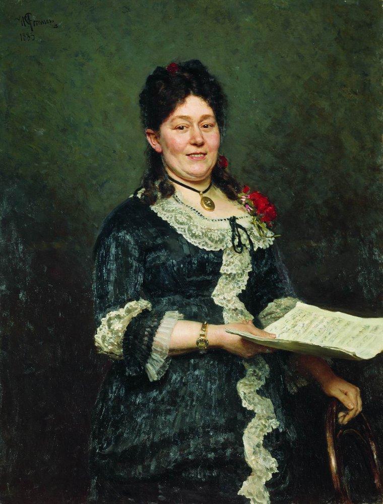 Portrait of the Singer Alexandra Molas - Ilya Repin