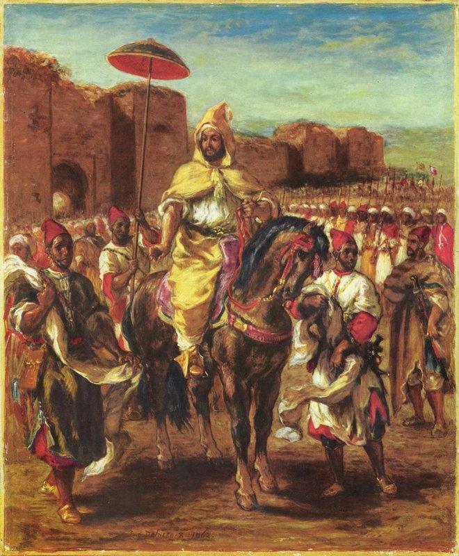 Portrait of the Sultan of Morocco - Eugene Delacroix