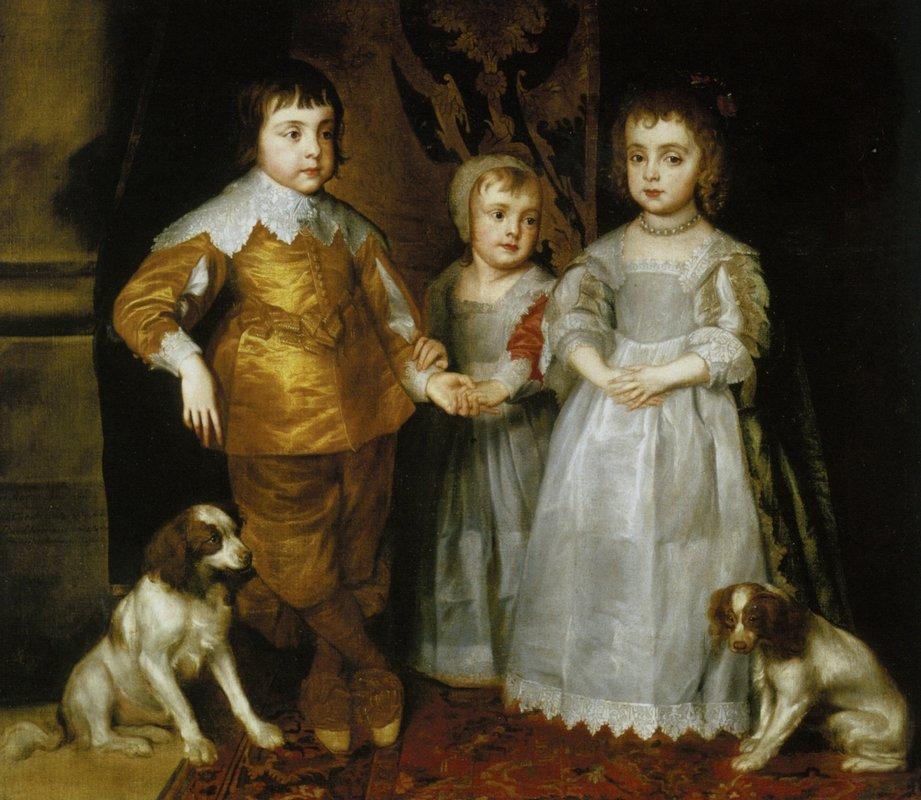 Portrait of the Three Eldest Children of Charles I - Anthony van Dyck