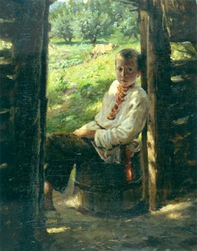 Portrait of the Ukrainian boy - Nikolai Ge
