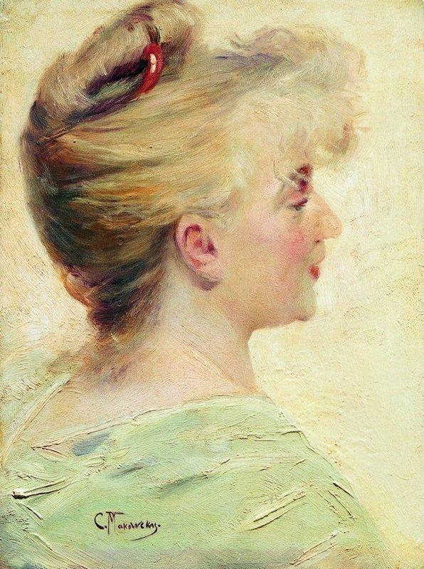 Portrait of the Young Lady - Konstantin Makovsky