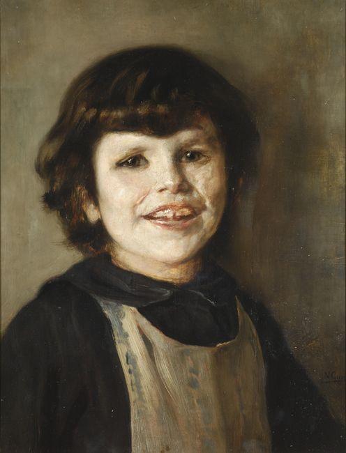 Portrait of Tilemahos Gyzis - Nikolaos Gyzis