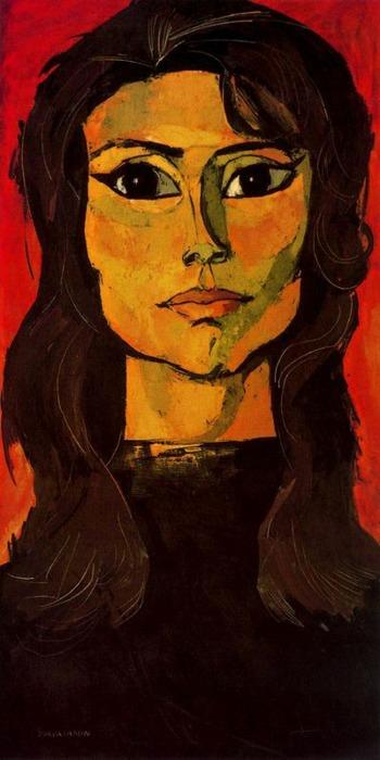 Portrait of Toty Rodriguez - Oswaldo Guayasamin