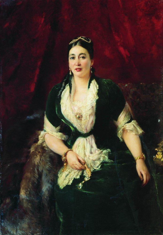 Portrait of Tradeswoman E.Rastorgueva - Konstantin Makovsky