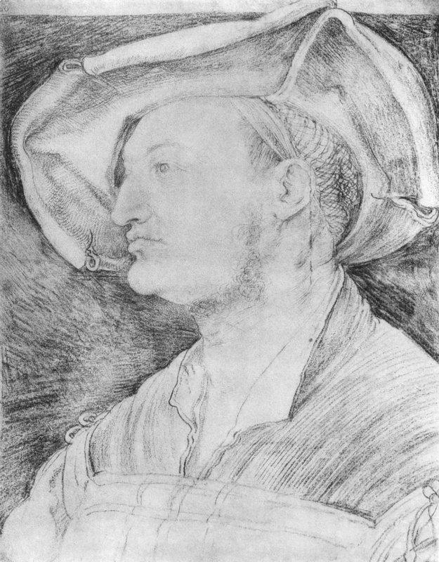 Portrait of Ulrich Varnbiiler  - Albrecht Durer