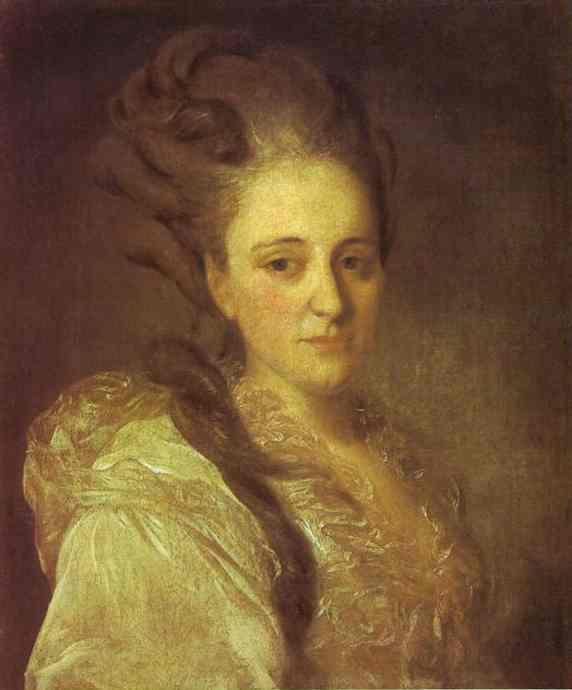 Portrait of V.A.Obreskova - Fyodor Rokotov