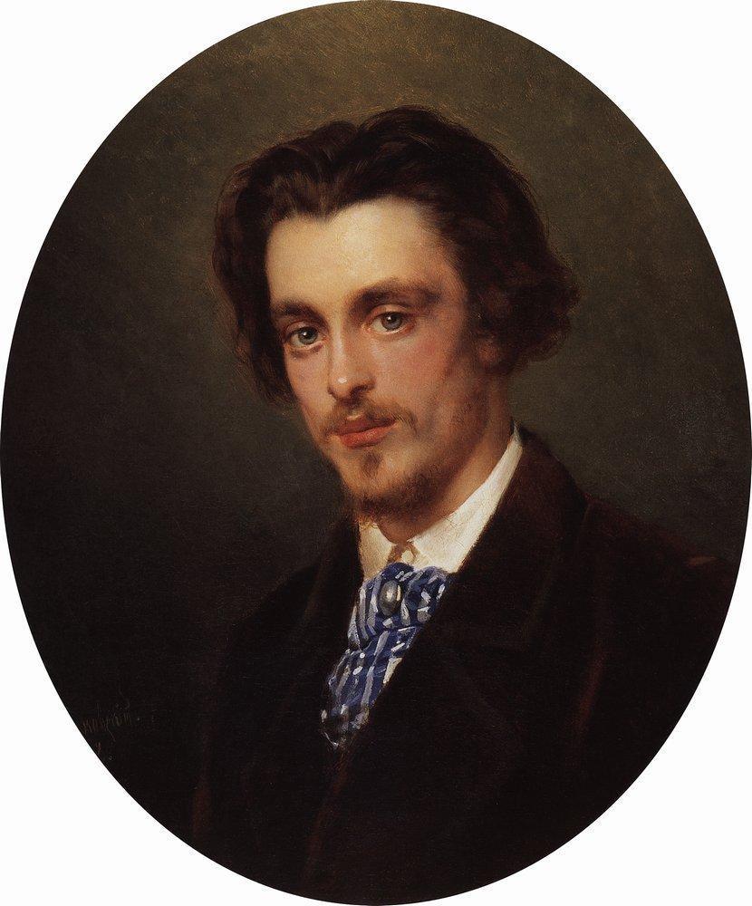 Portrait of V.Makovsky, Artist's Brother - Konstantin Makovsky