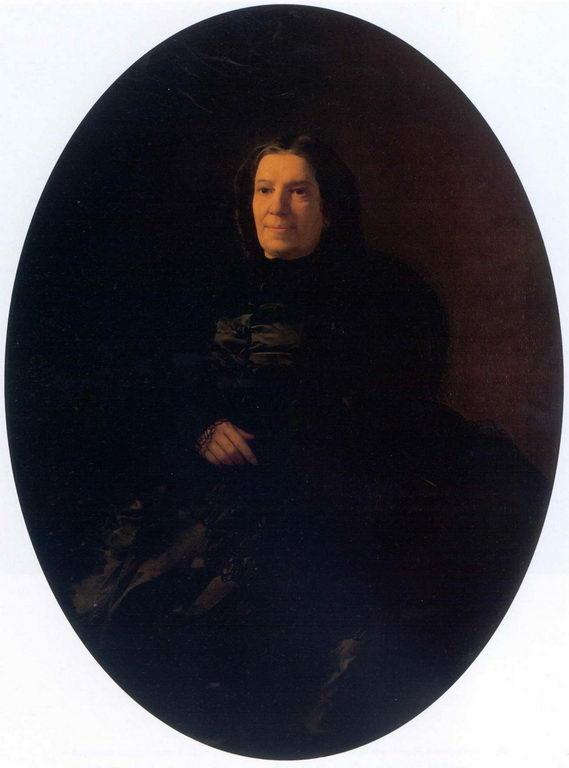 Portrait of V.N.Rostovtseva - Nikolai Ge