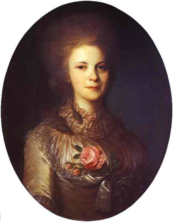 Portrait of V.N.Surovtseva - Fyodor Rokotov