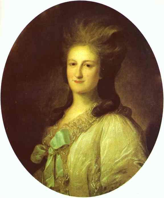 Portrait of Varvara Ermolayevna-Novosiltseva - Fyodor Rokotov