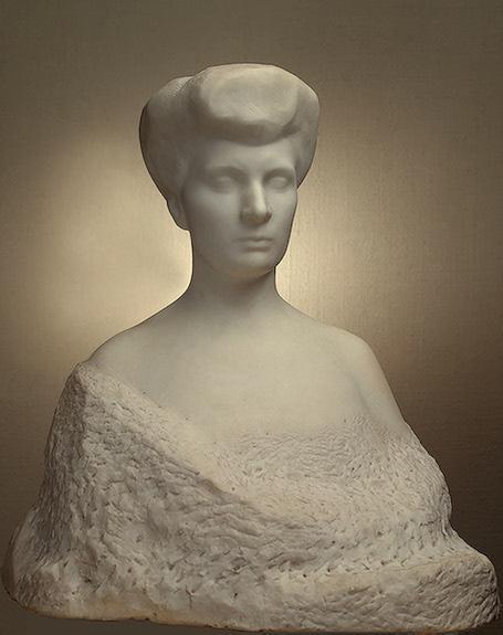 Portrait of Varvara Yeliseyeva - Auguste Rodin