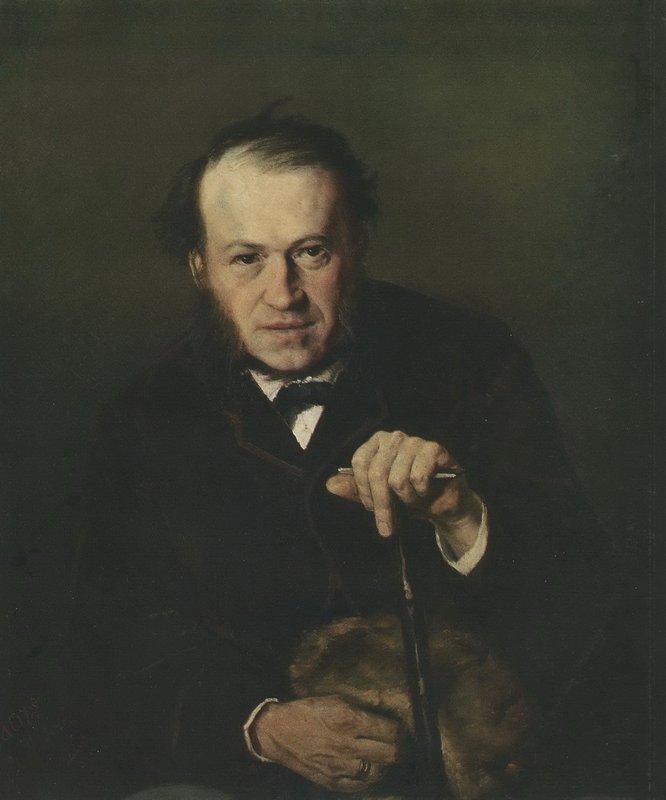 Portrait of Vasily Bezsonov - Vasily Perov