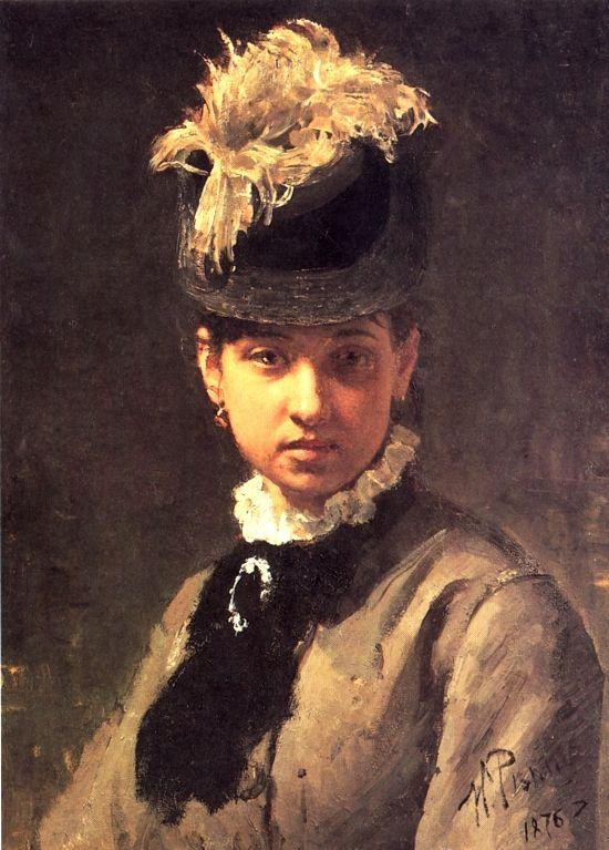 Portrait of Vera Repina, the Artist's Wife - Ilya Repin