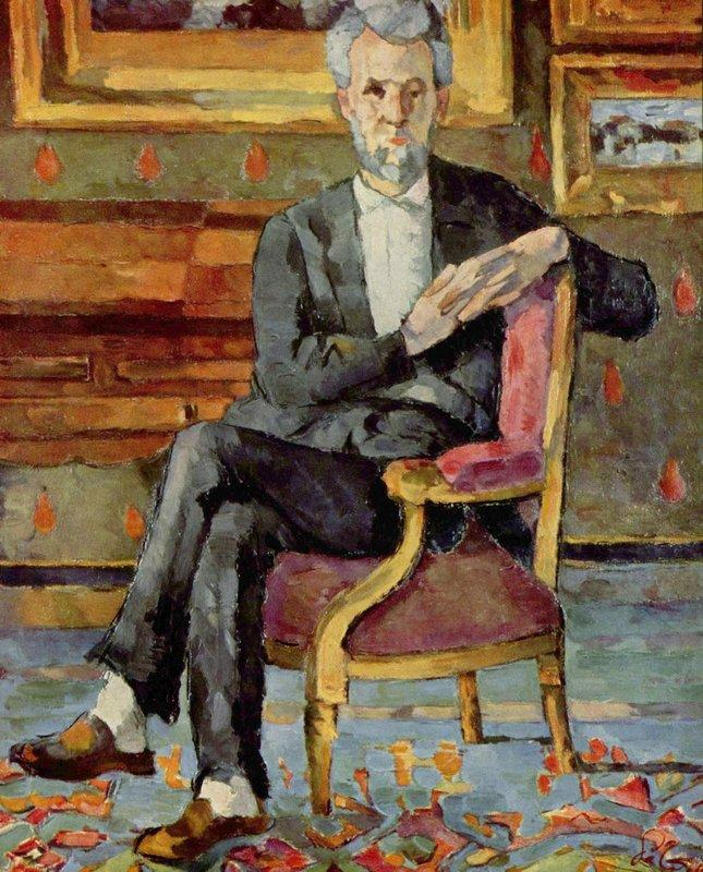 Portrait of Victor Chocquet, Seated - Paul Cezanne