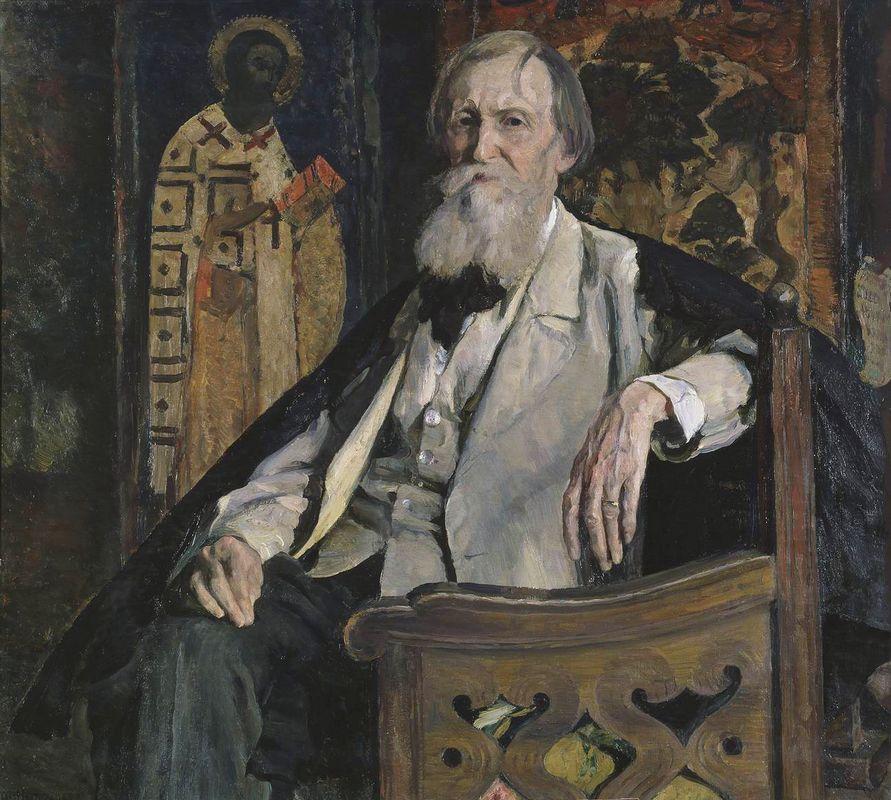 Portrait of Victor Vasnetsov - Mikhail Nesterov