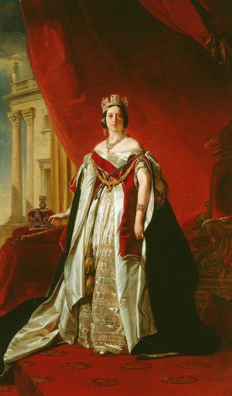 Portrait of Victoria of the United Kingdom - Franz Xaver Winterhalter