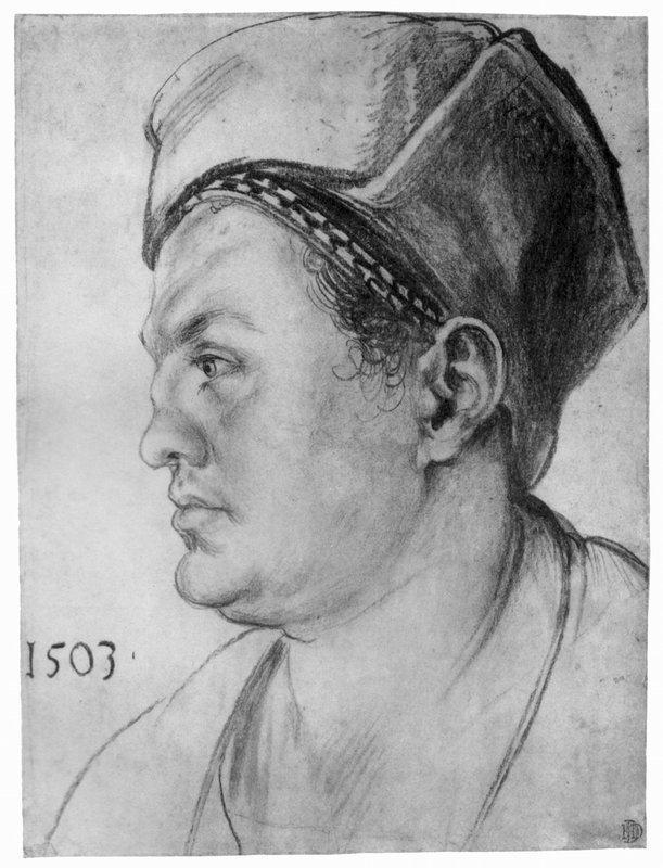 Portrait of William Pirckheimer  - Albrecht Durer