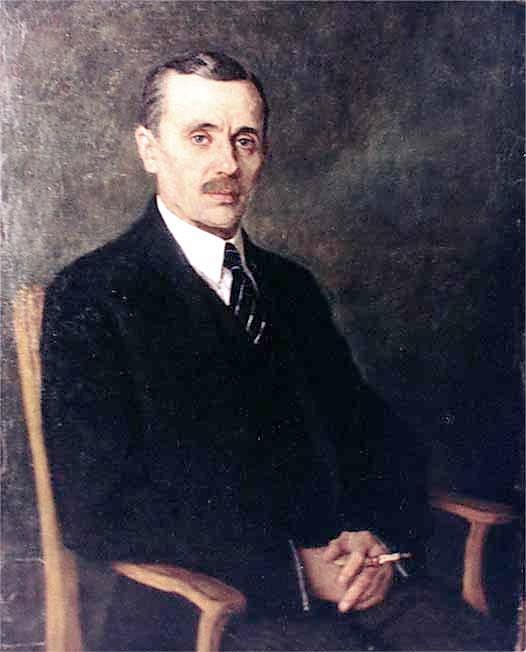 Portrait of Yanka Kupala - Nikolay Bogdanov-Belsky