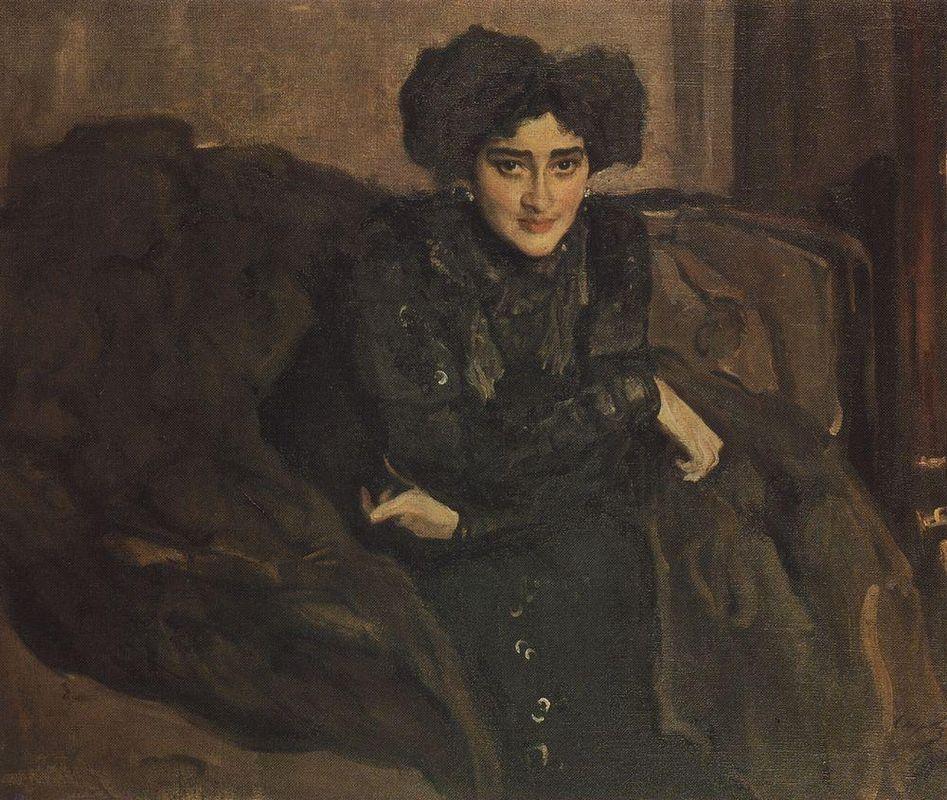 Portrait of Yevdokia Loseva - Valentin Serov