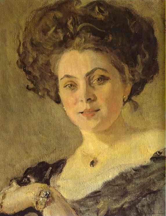 Portrait of Yevdokia Morozova (detail) - Valentin Serov
