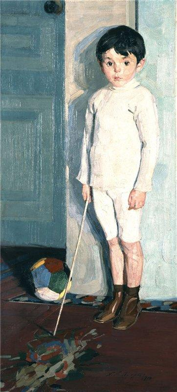 Portrait of young K.M - Nikolaos Lytras