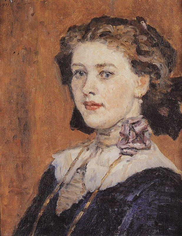 Portrait of young woman - Vasily Surikov
