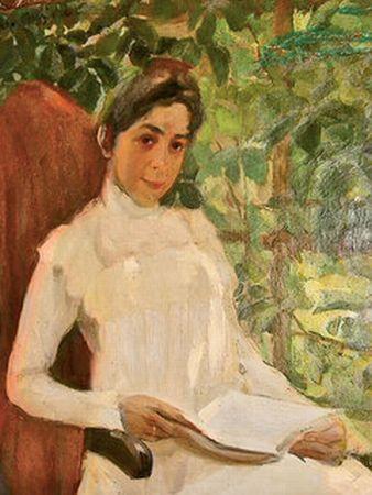 Portrait of Z.A. Pertsova - Konstantin Yuon