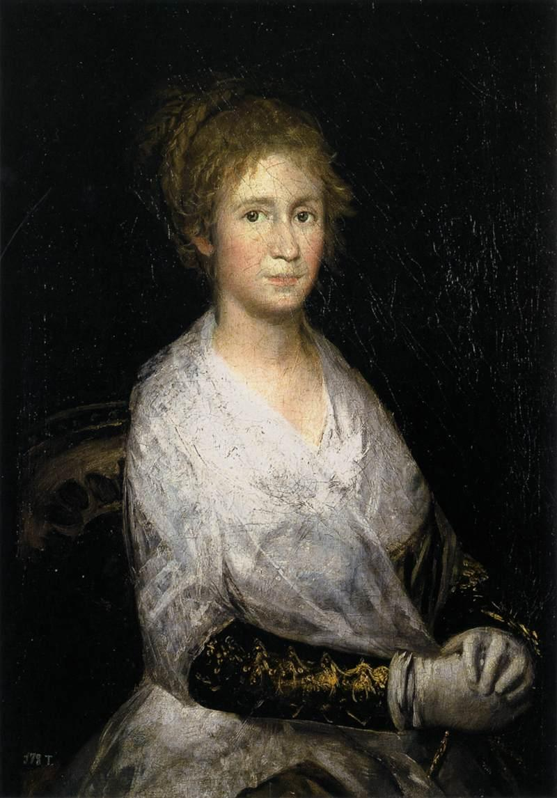 Portrait thought to be Josepha Bayeu (or Leocadia Weiss) - Francisco Goya