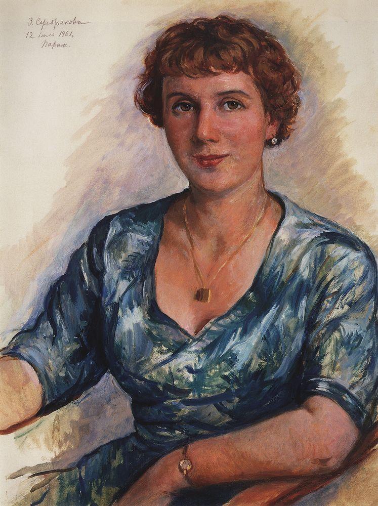 Portrait Z.N. Martynovskaya - Zinaida Serebriakova