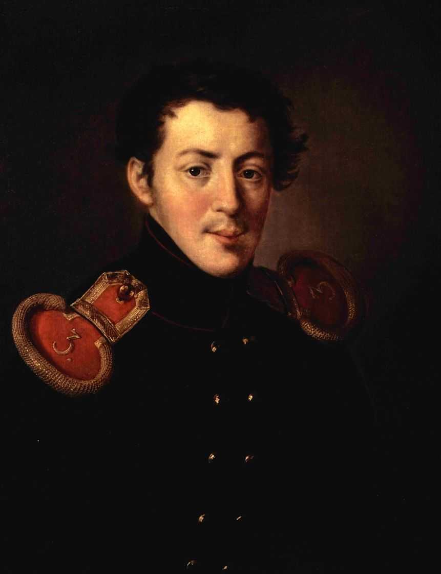 Portret Lieutenant Captain Ivan Vasilyevich Alymova - Vasily Tropinin