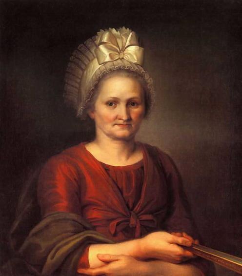 Portret of A.L. Venetsianova, Artist's Mother - Alexey Venetsianov