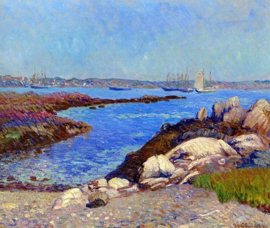 Portsmouth Harbor, New Hampshire - William James Glackens
