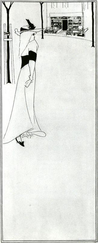 Poster of  Girl and a Bookshop - Aubrey Beardsley
