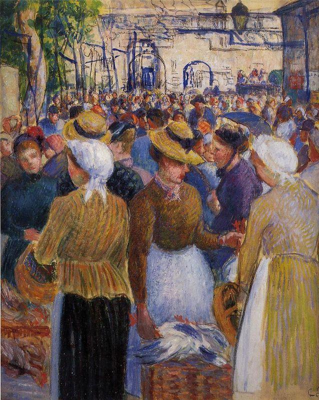Poultry Market at Gisors - Camille Pissarro