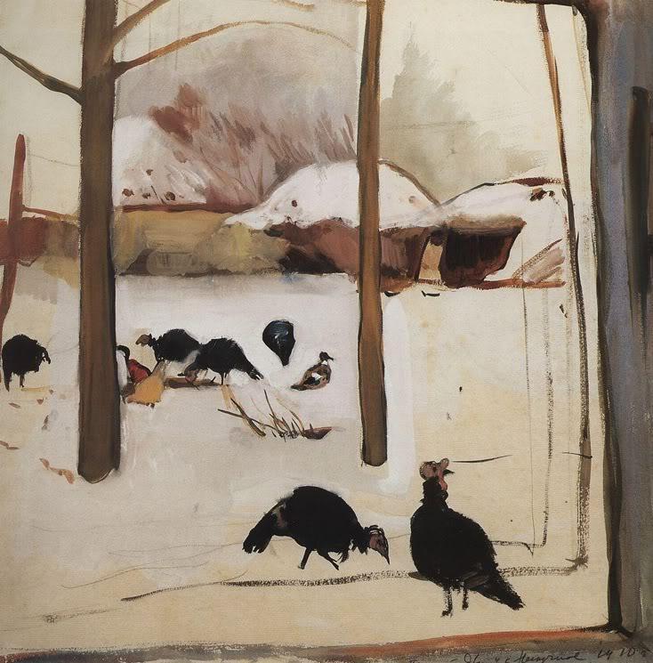 Poultry yard - Zinaida Serebriakova