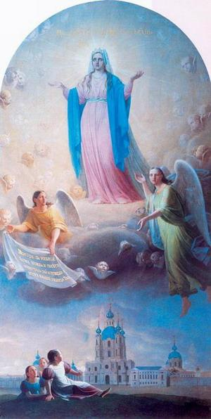 Prayer to Our Lady Mother for the pupils Smolny - Alexey Venetsianov