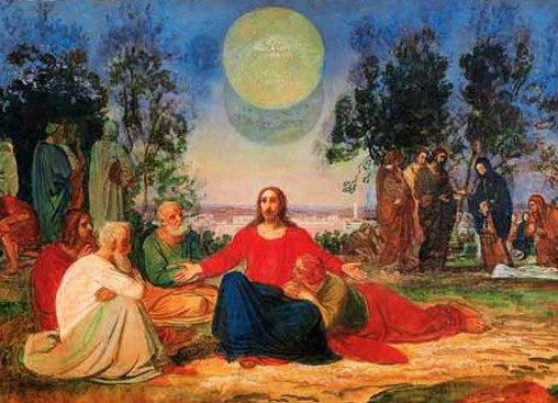 Preaching of Christ on the Mount of Olives about the second coming - Alexander Ivanov