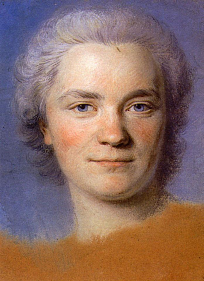 Preparation to the portrait of Mrs. Rougeau - Maurice Quentin de La Tour