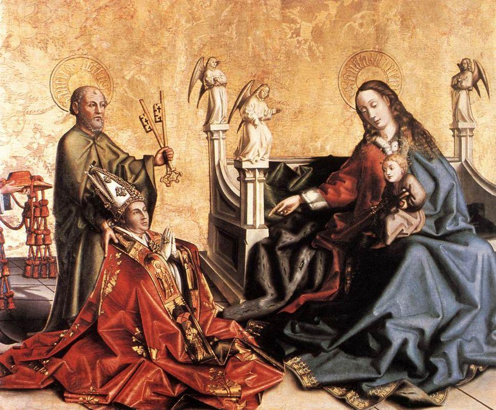 Presentation of Cardinal de Mies to the Virgin - Konrad Witz
