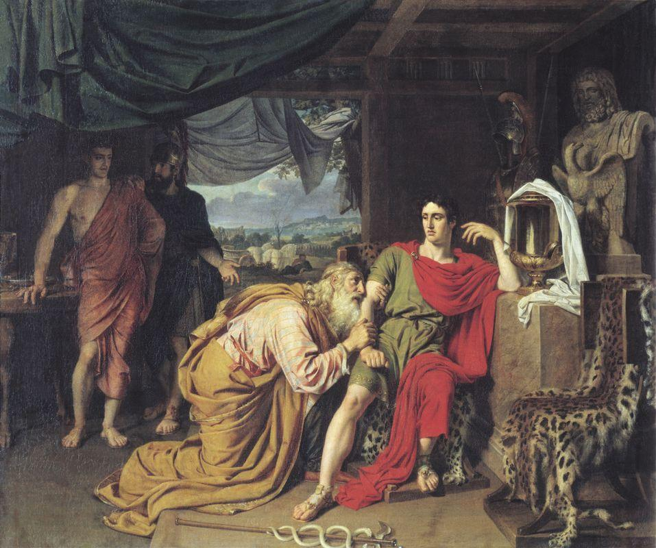 Priam asking Achilles for Hector's body - Alexander Ivanov
